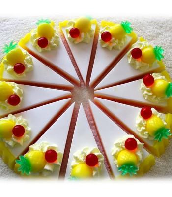 Pina Colada Soap Cake Slices