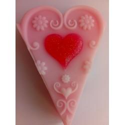 Love Heart Soap Cake Slice