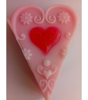 Love Heart Soap Cake Slice