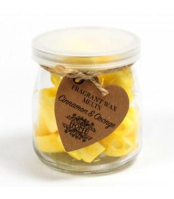 Cinnamon and Orange Wax Melts in jar